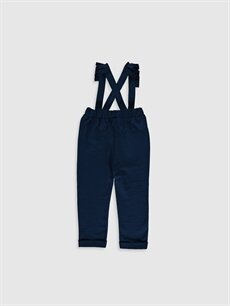 %100 Pamuk  Kız Bebek Askılı Pantolon