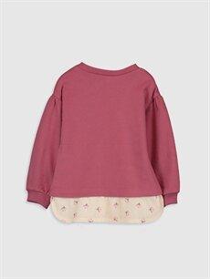 %69 Pamuk %31 Polyester  Kız Bebek Desenli Sweatshirt