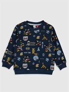 Mavi Erkek Bebek Disney Baskılı Sweatshirt 9WV722Z1 LC Waikiki