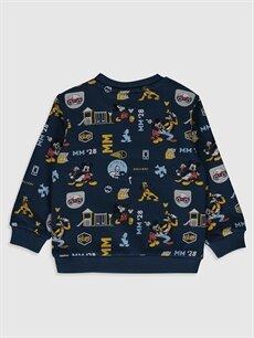 %85 Pamuk %15 Poliester  Erkek Bebek Disney Baskılı Sweatshirt
