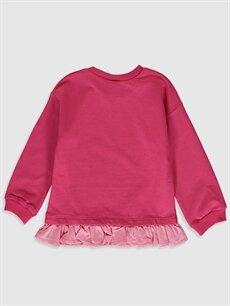%42 Pamuk %58 Polyester  Kız Bebek Niloya ve Tospik Baskılı Sweatshirt