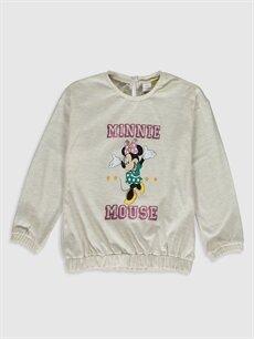Ekru Kız Bebek Minnie Mouse Baskılı Tişört 9WY298Z1 LC Waikiki