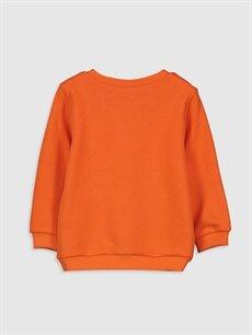 %71 Pamuk %29 Polyester  Kız Bebek Baskılı Sweatshirt