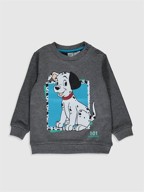Erkek Bebek 101 Dalmaçya Baskılı Sweatshirt - LC WAIKIKI