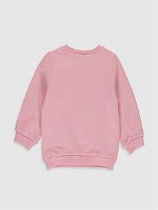 %100 Pamuk  Kız Bebek Desenli Kadın Sweatshirt