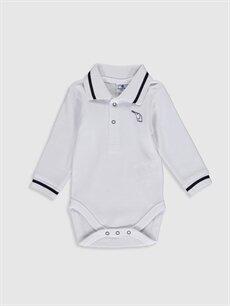 Beyaz Luggi Baby Yenidoğan Çıtçıtlı Body 9WB812Z1 LC Waikiki