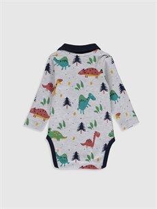 Luggi Baby Desenli Çıtçıtlı Body