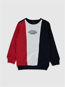 Lacivert Erkek Çocuk Baskılı Sweatshirt 0S1375Z4 LC Waikiki