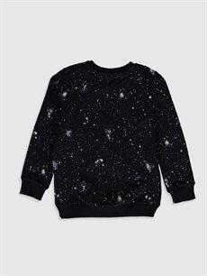 %70 Pamuk %30 Polyester  Erkek Çocuk Baskılı Sweatshirt