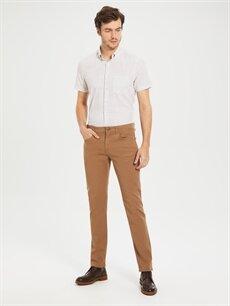 Kahverengi Normal Kalıp Gabardin Chino Pantolon 0S1741Z8 LC Waikiki