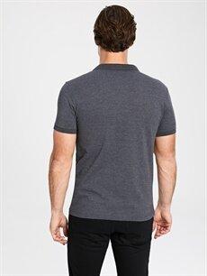 %62 Pamuk %38 Polyester Düz Kısa Kollu Polo Tişört