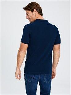 %100 Pamuk Düz Kısa Kollu Polo Tişört