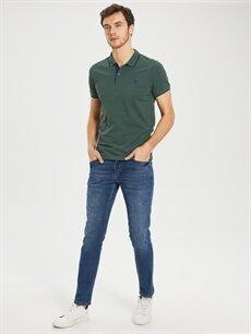 %60 Pamuk %40 Polyester Düz Kısa Kollu Polo Tişört