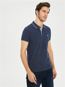 %80 Pamuk %20 Polyester Standart Düz Kısa Kol Tişört Polo Düz Kısa Kollu Polo Tişört
