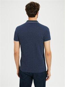 %80 Pamuk %20 Polyester Düz Kısa Kollu Polo Tişört