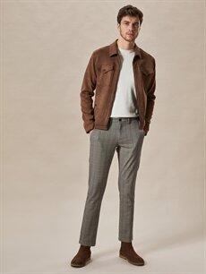%49 Pamuk %32 Poliester %16 Viskoz %3 Elastan Dar Normal Bel Pilesiz Pantolon Normal Bel Dar Pilesiz Pantolon