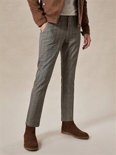 Erkek Normal Bel Dar Pilesiz Pantolon