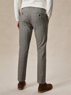 %49 Pamuk %32 Poliester %16 Viskoz %3 Elastan Normal Bel Dar Pilesiz Pantolon