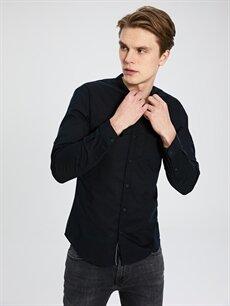 Erkek Ekstra Slim Fit Uzun Kollu Pamuklu Gömlek