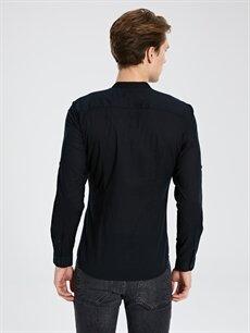 %100 Pamuk Ekstra Slim Fit Uzun Kollu Pamuklu Gömlek