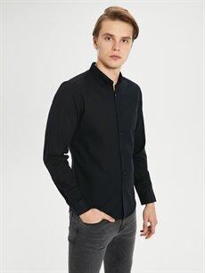 Erkek Ekstra Slim Fit Armürlü Gömlek