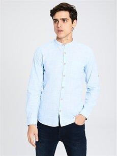 Mavi Ekstra Slim Fit Uzun Kollu Poplin Gömlek 0S2491Z8 LC Waikiki