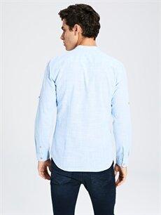 Erkek Ekstra Slim Fit Uzun Kollu Poplin Gömlek