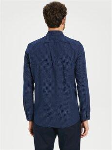 %53 Pamuk %47 Polyester Slim Fit Poplin Gömlek
