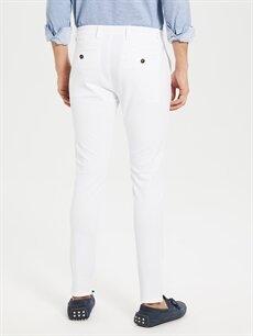 %97 Pamuk %3 Elastan Normal Bel Dar Pilesiz Chino Pantolon