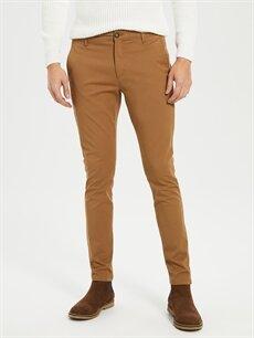 Erkek Normal Bel Dar Pilesiz Chino Pantolon