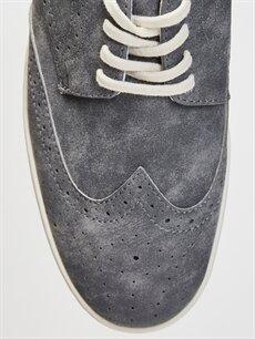 LC Waikiki Gri Erkek Klasik Bağcıklı Ayakkabı