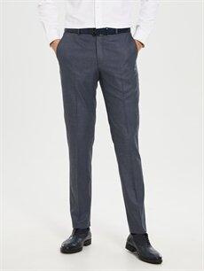 %73 Polyester %26 Viskoz %1 Elastan Dar Kalıp Takım Elbise Pantolonu