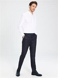 Gri Slim Fit Armürlü Takım Elbise Pantolonu 0S7832Z8 LC Waikiki