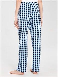 Kadın Kare Desenli Pamuklu Pijama Altı