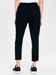 Kadın Beli Lastikli Bilek Boy Havuç Pantolon
