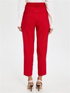 Kadın Yüksek Bel Esnek Kısa Paça Pantolon