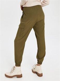 Kadın Normal Bel Kargo Lastikli Bel Pantolon