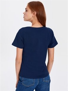 %100 Pamuk Dumbo Baskılı Pamuklu Tişört