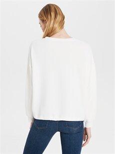Kadın Bağlama Detaylı Sweatshirt