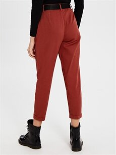 Kadın Kemerli Bilek Boy Havuç Pantolon