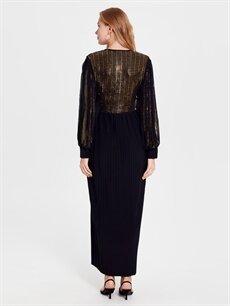 Kadın Hamile Pul İşlemeli Elbise