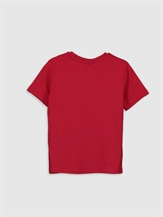 %100 Pamuk Düz Normal Bisiklet Yaka Tişört Kısa Kol Erkek Çocuk Pamuklu Basic Tişört