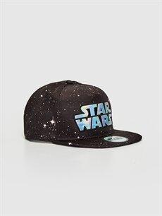 Siyah Erkek Çocuk Star Wars Hologram Baskılı Hip Hop Şapka 0S0954Z4 LC Waikiki