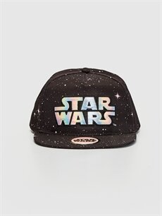%100 Polyester %100 Polyester  Erkek Çocuk Star Wars Hologram Baskılı Hip Hop Şapka