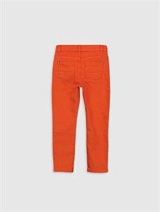 %98 Pamuk %2 Elastan Dar Normal Bel Erkek Çocuk Super Slim Gabardin Pantolon
