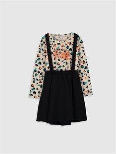 Siyah Kız Çocuk Elbise ve Tişört 0S1462Z4 LC Waikiki