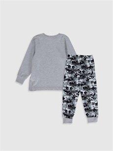 %100 Pamuk Standart Pijamalar Erkek Çocuk Kamuflaj Desenli Pamuklu Pijama Takımı