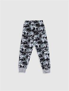 %100 Pamuk Erkek Çocuk Kamuflaj Desenli Pamuklu Pijama Takımı