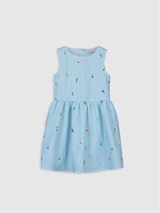 Mavi Kız Çocuk Desenli Elbise 0S2440Z4 LC Waikiki