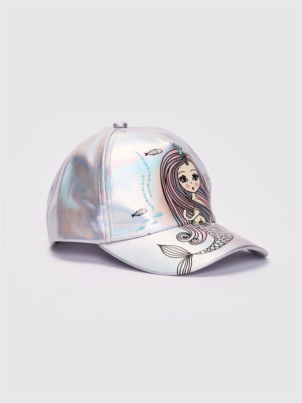 Kız Çocuk Deniz Kızı Baskılı Hologram Şapka - LC WAIKIKI